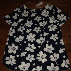 Ann Taylor flower pattern blouse